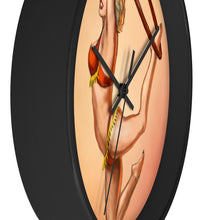 Load image into Gallery viewer, Pinup burlesque aerialist acrobat in Lyra Wall clock (aerial hoop)