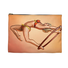 Load image into Gallery viewer, Pinup burlesque aerialist acrobat in Lyra Accessory Pouch Makeup Bag