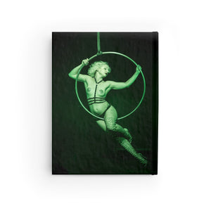 Burlesque aerialist aerial hoop acrobat in lyra photo Journal - Ruled Line