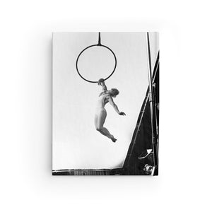 Black & White Artistic Aerial Hoop Journal - Ruled Line