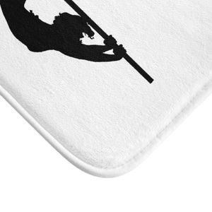 Pole dancer silhouette Bath Mat