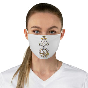 Chandelier Hoop Girl Fabric Face Mask-white