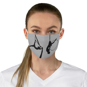Circus Girl Fabric Face Mask-Grey