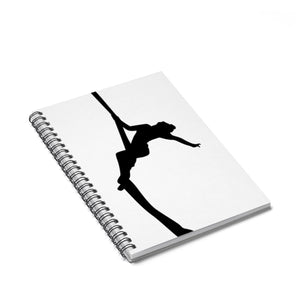 Aerialist aerial silks acrobat climbing silhouette Spiral Notebook - Ruled Line