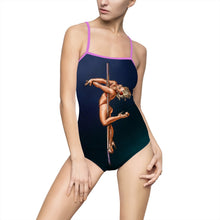 Load image into Gallery viewer, Pinup burlesque pole dancer artwork Women's Swimsuit leotard