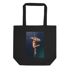 Pinup Pole Dancer Tote Bag