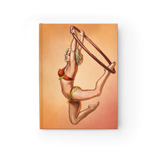 Load image into Gallery viewer, Pinup burlesque aerialist acrobat in Lyra Journal - Ruled Line (aerial hoop)