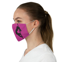 Load image into Gallery viewer, Pole dancer silhouette Fabric Face Mask-Hot Pink