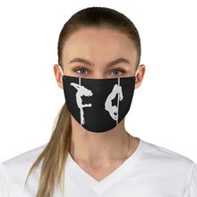 Load image into Gallery viewer, Pole silhouette Fabric Face Mask-Black & White