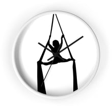 Load image into Gallery viewer, Aerialist aerial silks acrobat Wall clock (splits)