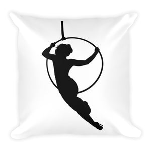 Aerialist aerial hoop acrobat in Lyra Decorative Square Pillow
