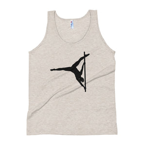 Pole dancer in butterfly Unisex Tank Top (black silhouette)
