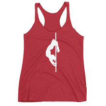 Load image into Gallery viewer, Pole dancer Women's Racerback Tank (white silhouette)