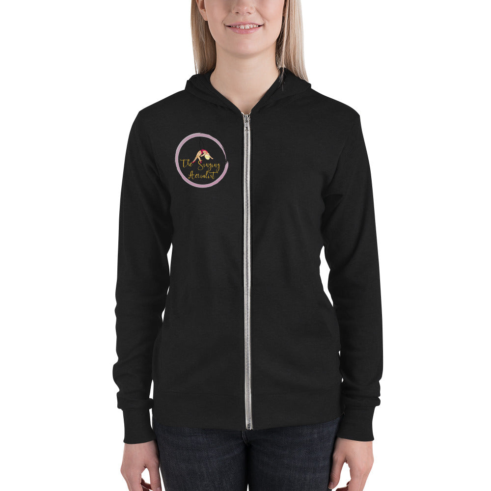 The Singing Aerialist zip hoodie