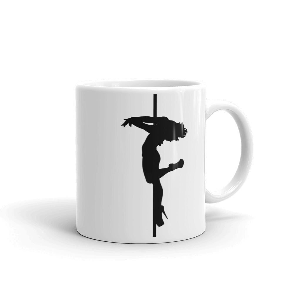 Pole dancer Silhouette Mug