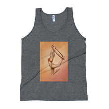 Load image into Gallery viewer, Pinup burlesque aerialist acrobat in Lyra Unisex Tank Top