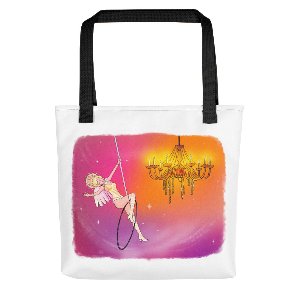 Whimsical Singing Aerialist Hoop Art Tote bag