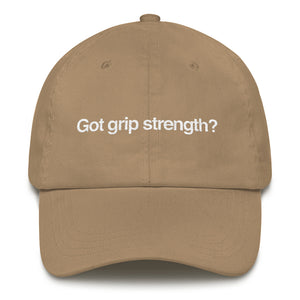 Got grip strength hat