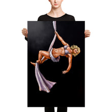 Load image into Gallery viewer, Pinup burlesque aerialist aerial silks acrobat Canvas