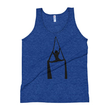 Load image into Gallery viewer, Aerialist aerial silks acrobat splits Unisex Tank Top (black silhouette)