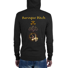 Load image into Gallery viewer, Baroque Bitch Unisex Lightweight Zip Hoodie