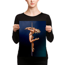 Load image into Gallery viewer, Pinup burlesque pole dancer Canvas
