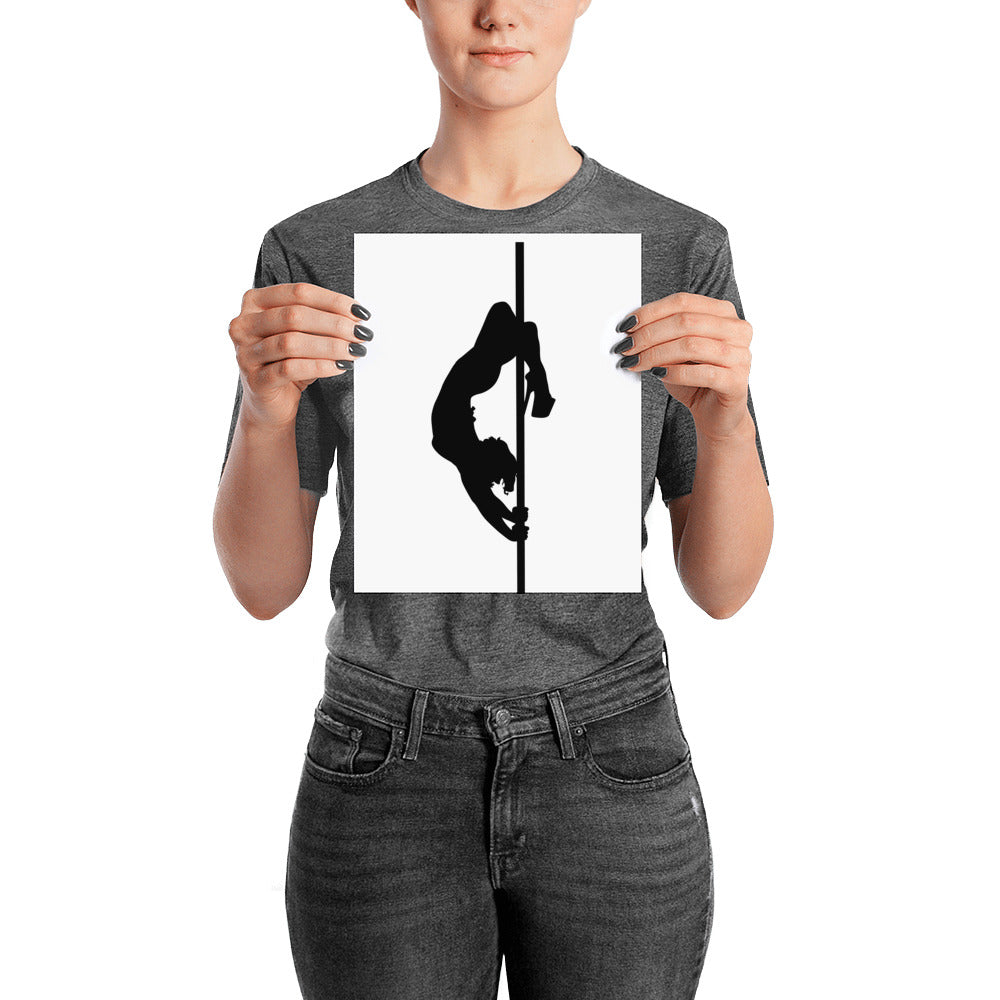 Pole dancer silhouette print