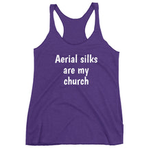 Load image into Gallery viewer, Aerial silks are my church Women's Racerback Tank