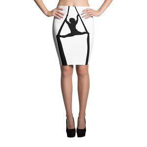Aerialist aerial silks acrobat bodycon Pencil Skirt (splits)