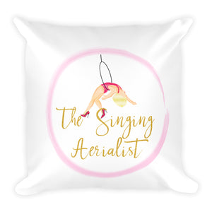 The Singing Aerialist Decorative Square Pillow