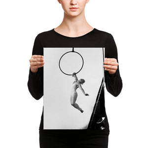 black & white artistic Aerial Hoop Canvas