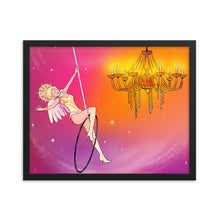 Load image into Gallery viewer, Whimsical singing aerialist Framed print