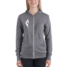 Load image into Gallery viewer, Pole dancer Unisex zip hoodie