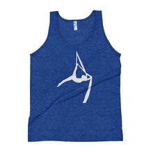 Load image into Gallery viewer, Aerialist aerial silks acrobat Unisex Tank Top (white silhouette)