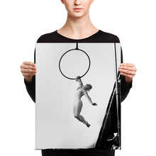 Load image into Gallery viewer, black & white artistic Aerial Hoop Canvas