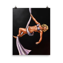 Load image into Gallery viewer, Pinup burlesque aerialist aerial silks acrobat artwork print
