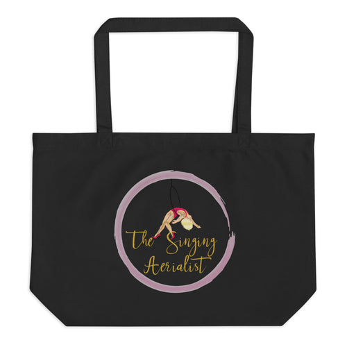 The Singing Aerialist Logo Large organic tote bag