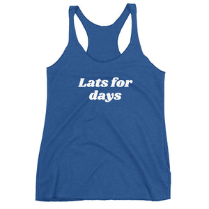 Lats for days Women's Racerback Tank