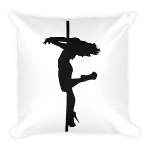 Pole dancer silhouette Square Decorative Pillow