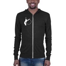 Load image into Gallery viewer, Aerialist aerial hoop acrobat in lyra Unisex zip hoodie