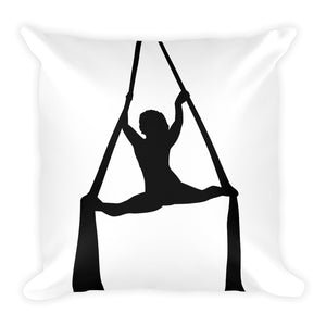 Aerialist aerial silks acrobat Square Decorative Pillow