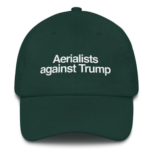 Aerialists against Trump hat