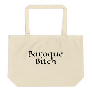 Baroque Bitch Large organic tote bag