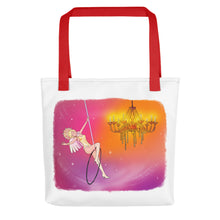 Load image into Gallery viewer, Whimsical Singing Aerialist Hoop Art Tote bag