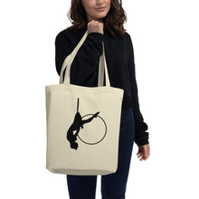 Load image into Gallery viewer, Aerial hoop silhouette Eco Tote Bag