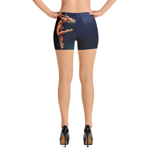 Pinup burlesque pole dancer all-over print athletic shorts