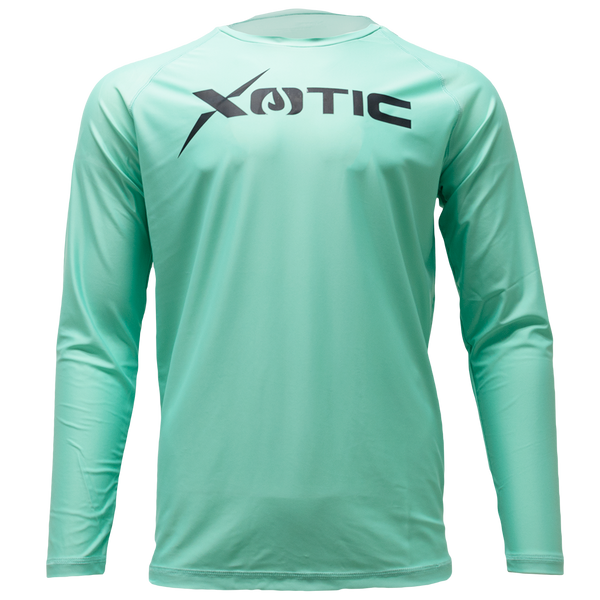 Ice Green Long  Sleeve Performance Shirt with Repel X