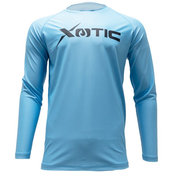 Light Blue  Long Sleeve Performance Shirt With Repel X