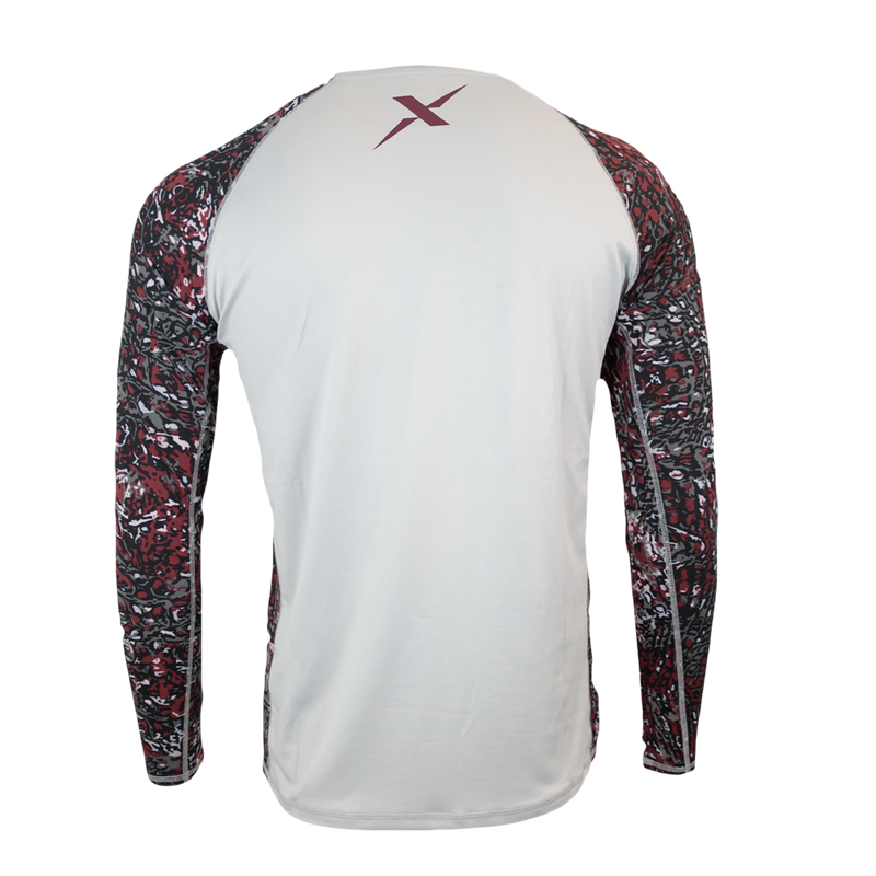 AG Grey Body Performance Fishing Shirt-Long Sleeve Performance Shirt-Xotic Camo & Fishing Gear