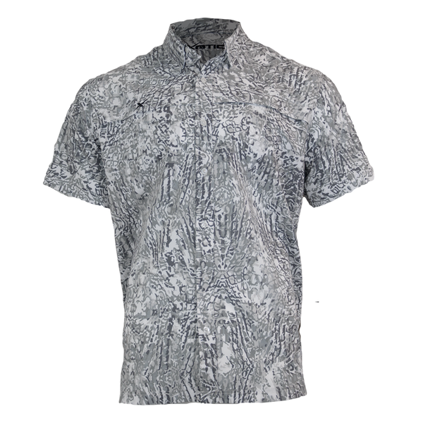 Arctic Button Down Fishing Shirt-Short Sleeve Woven Shirt-Xotic Camo & Fishing Gear